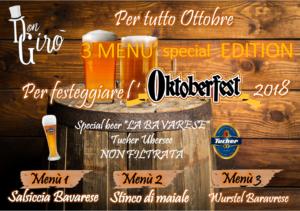 Festeggia l'Oktoberfest con i Menù Special Edition